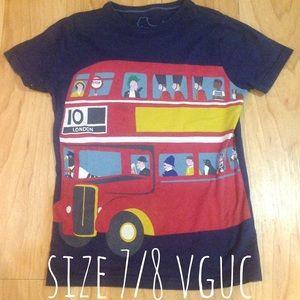 Size 7/8 mini boden london bus tshirt